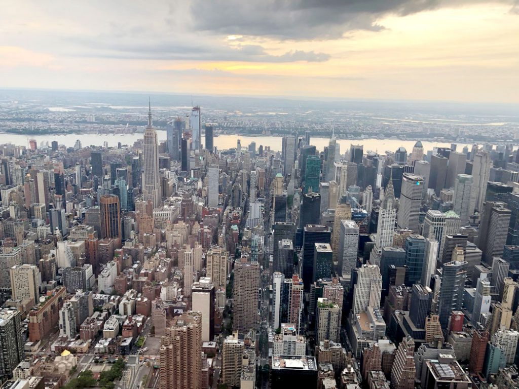 New York Skyline from Helicopter by Emma Eats & Explores