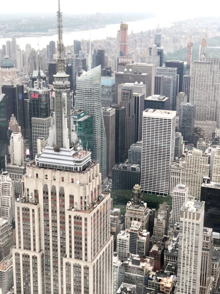 Empire State Building as sen from a Helicopter by Emma Eats & Explores