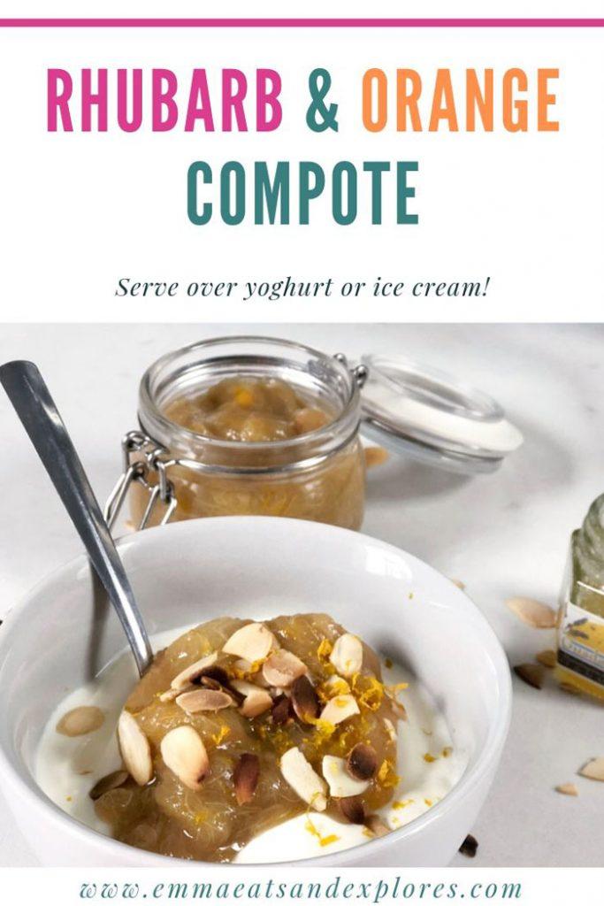 Rhubarb & Orange compote by Emma Eats & Explores - paleo, grainfree, glutenfree, refined sugarfree, vegetarian